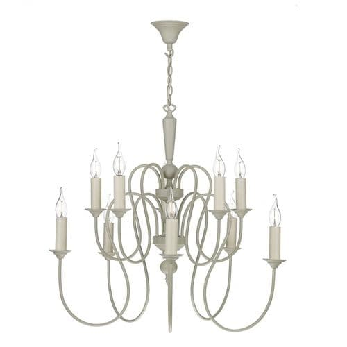 David Hunt THE232 Therese 10 Light Chandelier French Cream